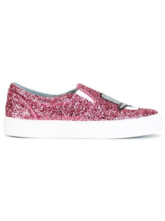 women sneakers leather cotton purple pink shoes