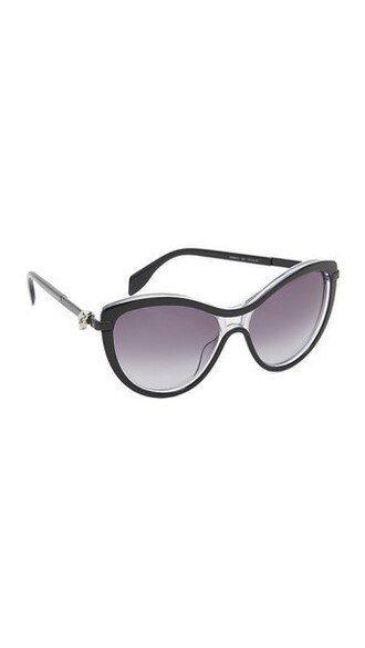 skull smoke sunglasses black