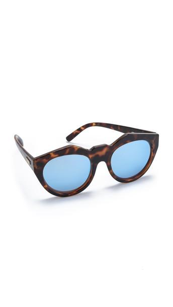 Le Specs Neo Noir Sunglasses - Milky Tort/Ice Blue Revo