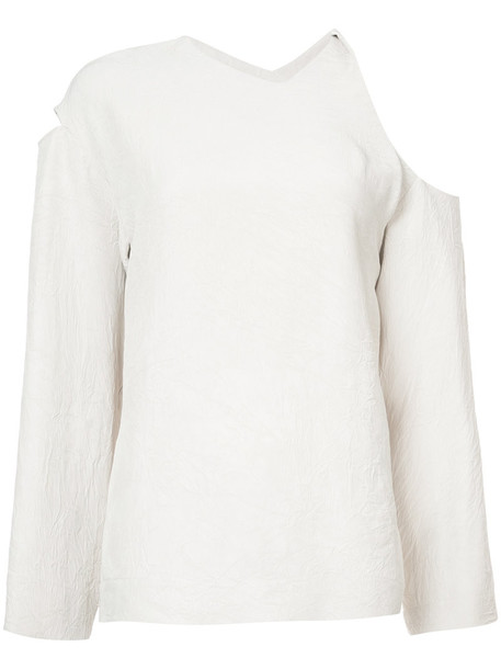 NOMIA blouse women cold nude top