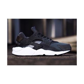 shoes grey color huarache white