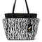 On the go printed coated canvas tote