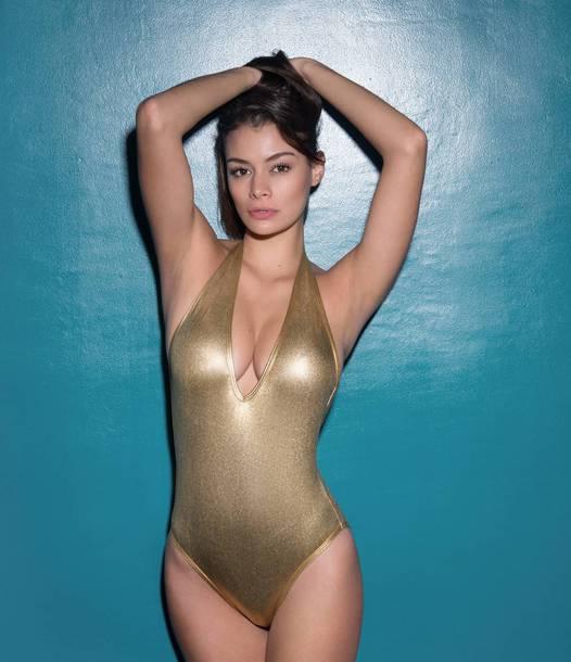 7432f24353be swimwear, metallic swimsuit, metallic one-piece, one piece swimsuit ...