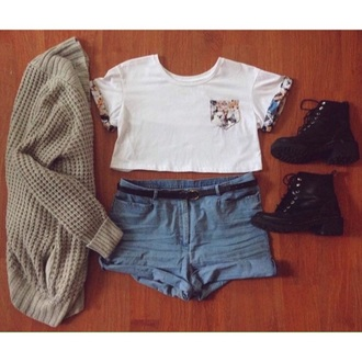 shirt crop tops cats cat crop top fall outfits