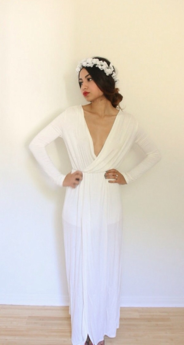 dress, prom, white, formal, evening outfits, indie, prom dress, long ...
