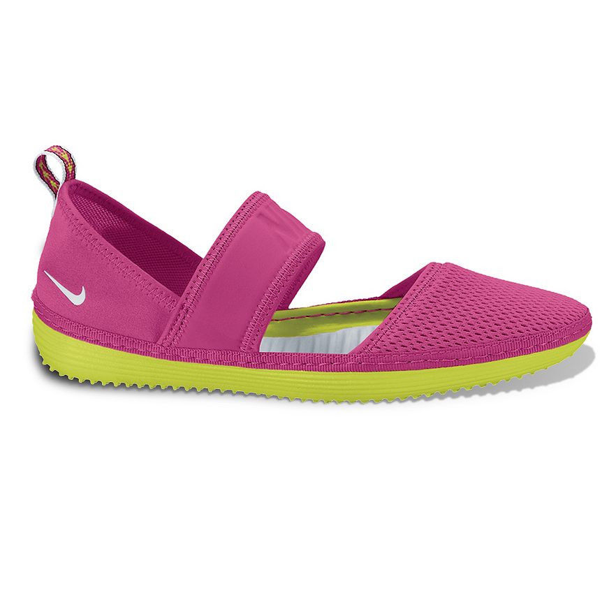 New Nike Solarsoft Aqua Slippers Water Shoe - Women's Pink Volt size 5, 12