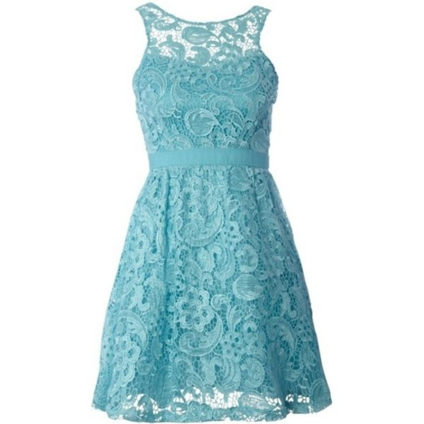 Dress: cute dress, lace dress, blue dress, lace bridesmaid dress ...