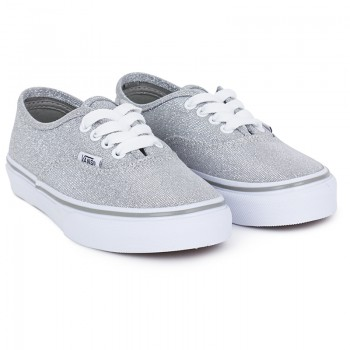 Vans Girls Silver Shimmer Authentic Trainers | AlexandAlexa