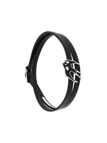 McQ Alexander McQueen women leather black jewels