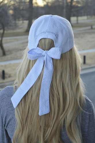 hat ribbon bow ribbon ribbons cap fashion accessories stripes baseball cap outfit summer