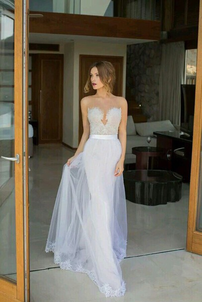 Long Flowy Wedding Dresses - Ocodea.com