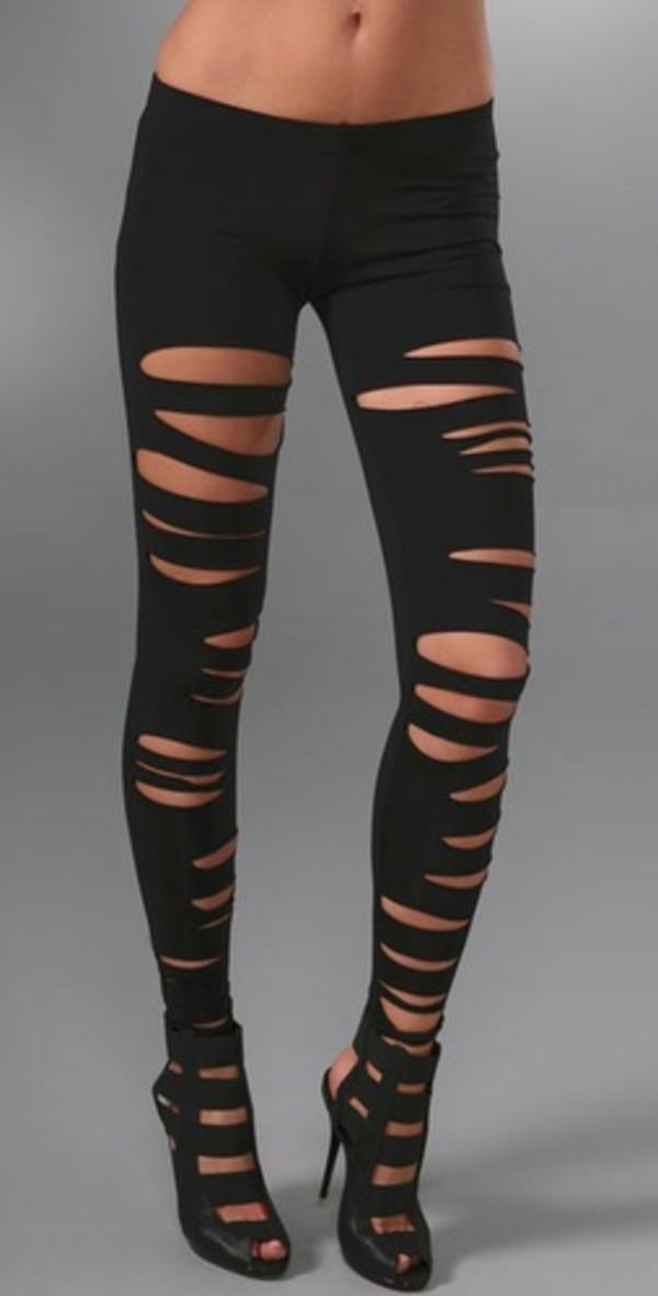 leggings ripped ripped leggings