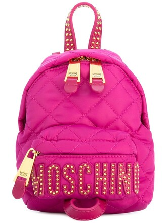 mini studded backpack studded backpack leather purple pink bag