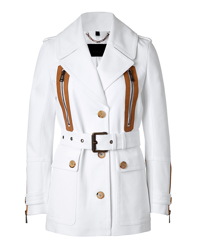 White Cotton New Haven Belted Jacket from BELSTAFF | Luxury fashion online | STYLEBOP.com