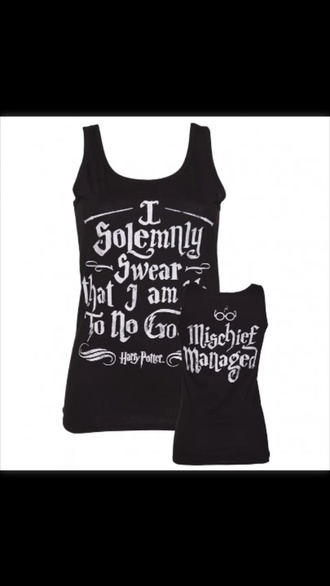 tank top vest top harry potter harry potter tank tops