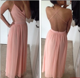 dress backless floor length