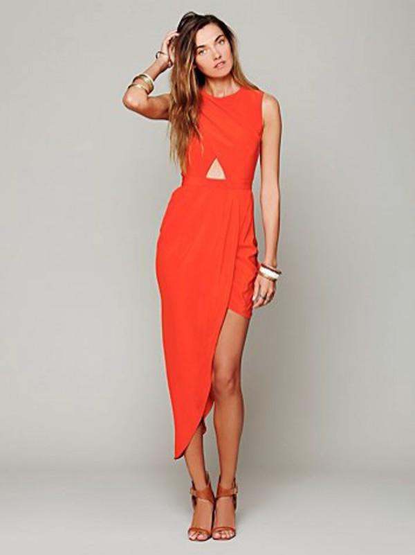 Red dress sexy sexy dress cut out dress party dress classy wrap dress