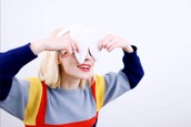 sweater,mars argo,aesthetic,youtube,blue,pastel,yellow,red,colorful