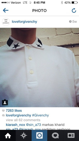 blouse shirt white button up blouse button up shirt givenchy style givenchy tshirt stars button up menswear