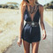 Backless double strap playsuit