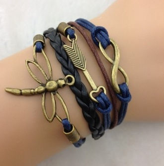 jewels cord bracelet leather bracelet braclet seperate heart shape arrow