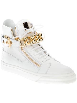 68ee6f2fbff0f Giuseppe Zanotti Design Chain Detail Hi-top Sneakers - Biondini Paris -  Farfetch.com
