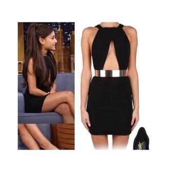 dress ariana grande shiny belt black ariana grande dress black dress