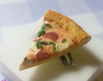 pizza ring on Etsy, a global handmade and vintage marketplace.