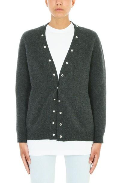 Balenciaga cardigan cardigan wool grey sweater