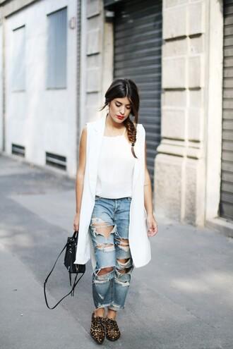 dulceida blogger jacket blouse jeans bag