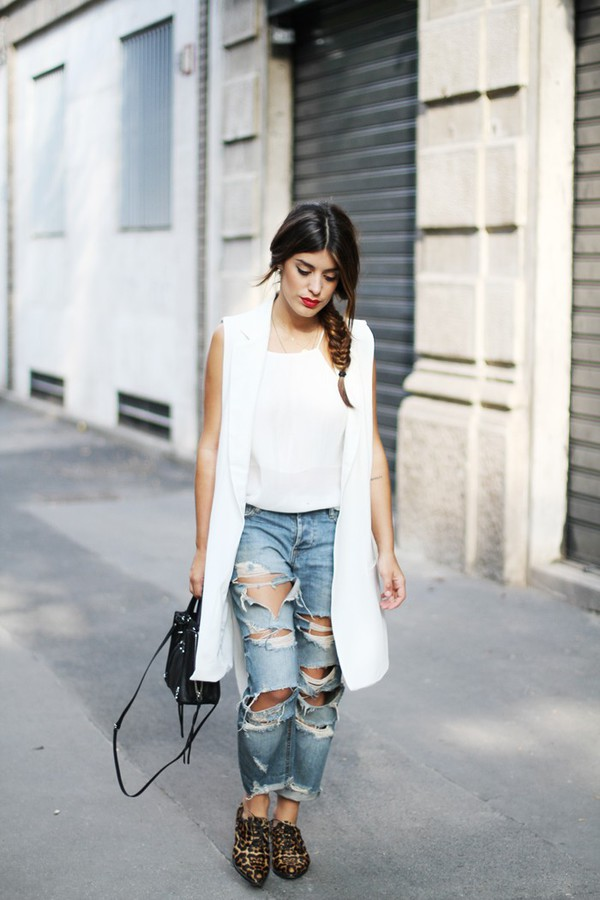 dulceida blogger jacket blouse jeans bag