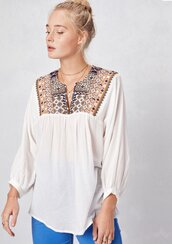 blouse,boho top,bohemian,boho chic,peasant top,mosaic embroidered top,embroidered blouse,cotton top,festival top,festival,summer,summer top