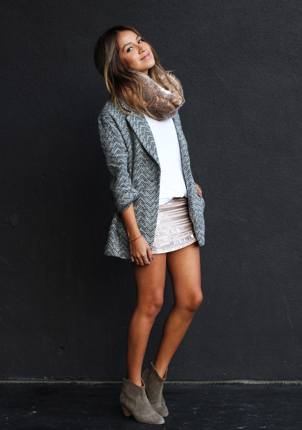 sincerely jules coat skirt scarf shoes