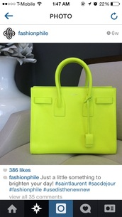 bag,neon,purse,yellow