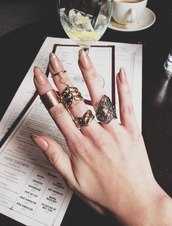 jewels,ring,gold,bronze,midi,knuckle ring