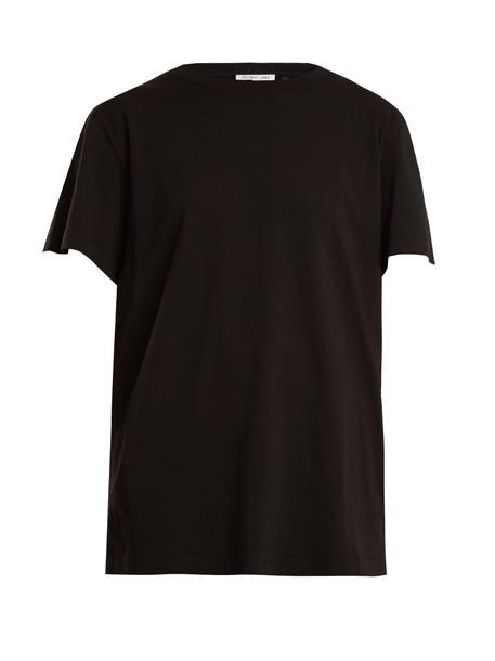 Helmut Lang t-shirt shirt cotton t-shirt t-shirt cotton print black top