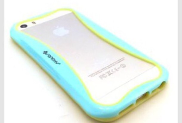 phone cover blue and green