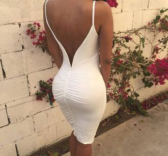 dress clothes white white dress open backed dress open back medium dress long dress white long dress