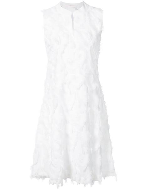See by Chloe dress shift dress women white silk