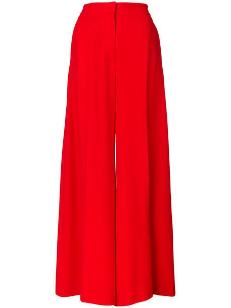 Stella McCartney pants palazzo pants high women spandex red