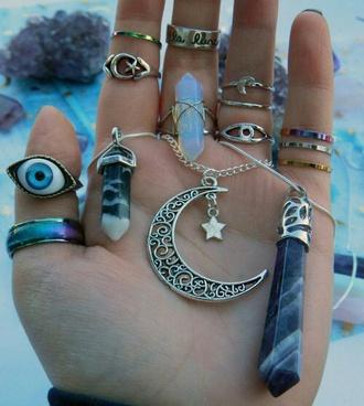 jewels quartz boho indie hippie eye ring
