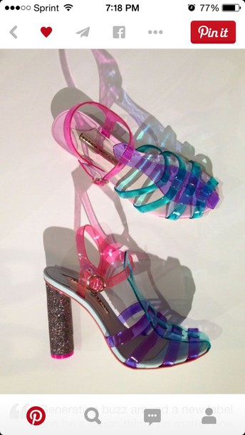 shoes jellies rainbow lovely
