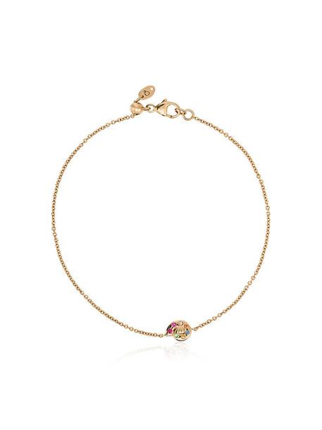 LOQUET women shell charm bracelet gold yellow jewels