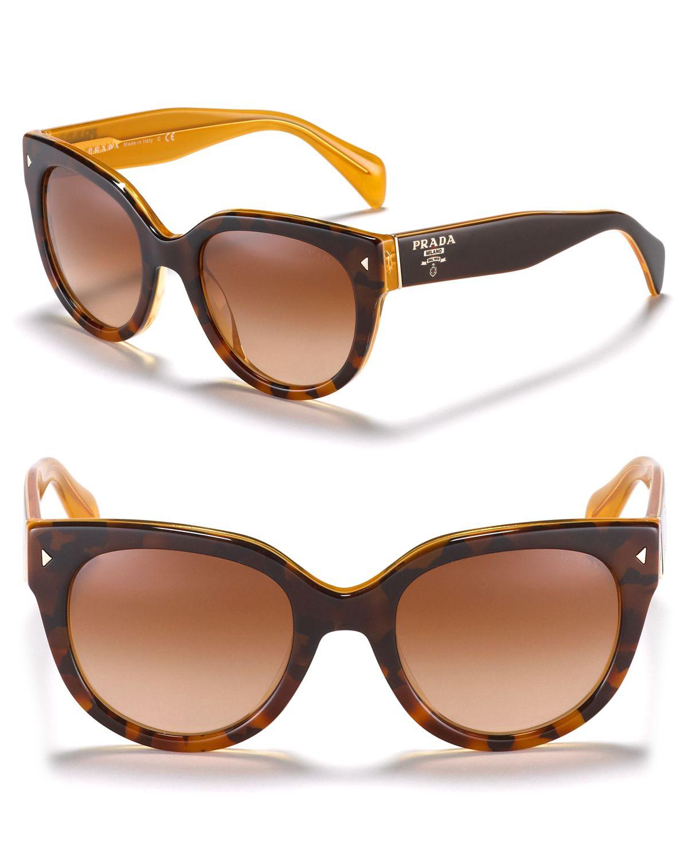 Prada Women's Timeless Heritage Rounded Wayfarer Sunglasses | Bloomingdale's