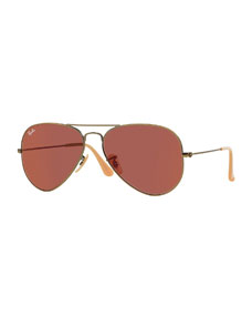 Ban aviator mirror sunglasses, red