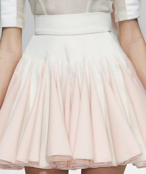 skirt pink and white