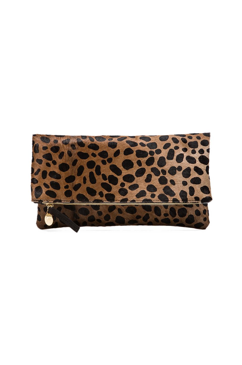Clare V. Foldover Clutch in Leopard from REVOLVEclothing.com