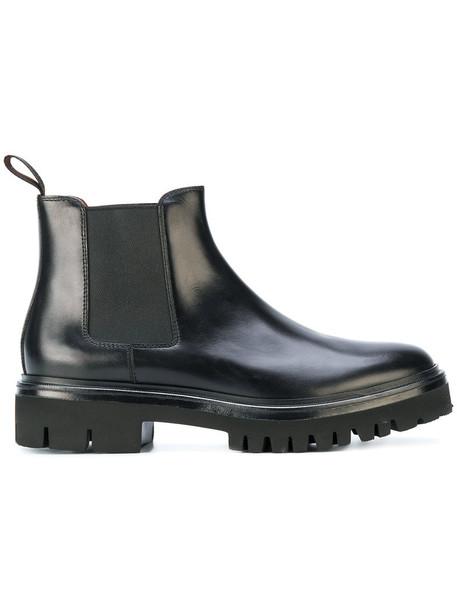 Santoni women chelsea boots leather black shoes