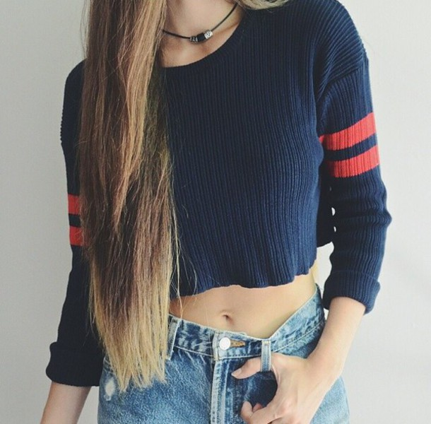 top cropped sweater sweater jeans