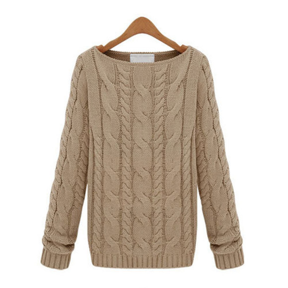 boat neck sweater solid color